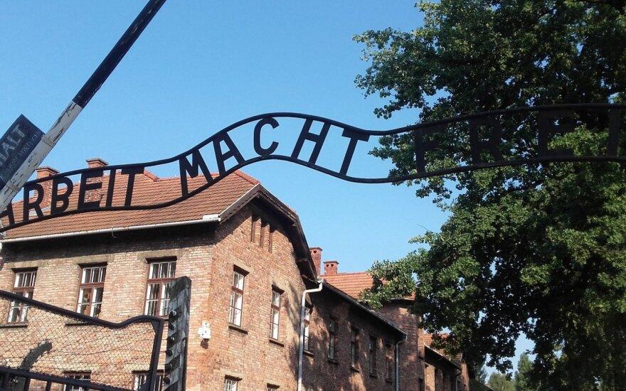 Lenkijoje apkaltintas amerikietis, bandęs pavogti bėgių gabalą iš Aušvico