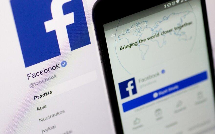 """""""Facebook"""" Rusijoje sulaukė simbolinės baudos"""