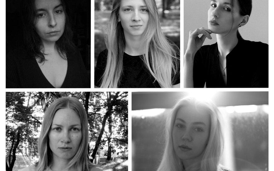 """""""JCDecaux Premija"""" dalyvės iš kairės. Karolina Janulevičiūtė, Saulė Noreikaitė, Aistė Marija Stankevičiūtė,Sallamari Rantala, Emilija Povilanskaitė"""