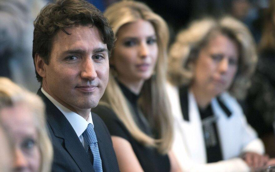 Ivanka Trump ir Justinas Trudeau
