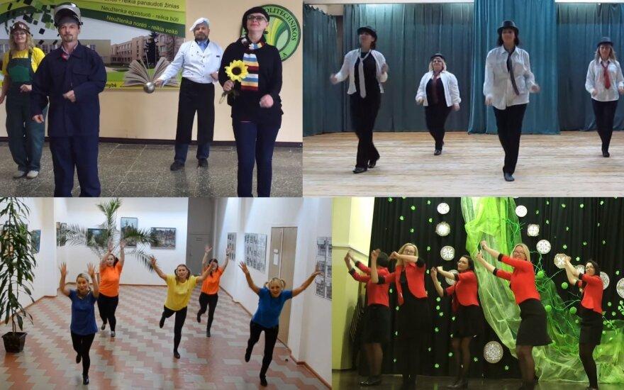 Tarp mokytojų plinta šokio iššūkis: šimtai pedagogų parodė, ką moka