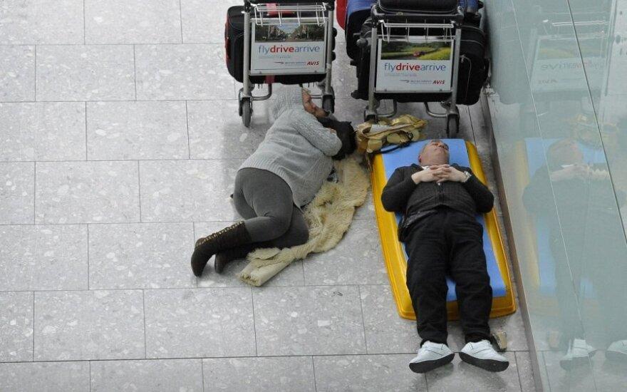 Belgijoje dėl streiko trečiadienį atšaukiami visi lėktuvų skrydžiai