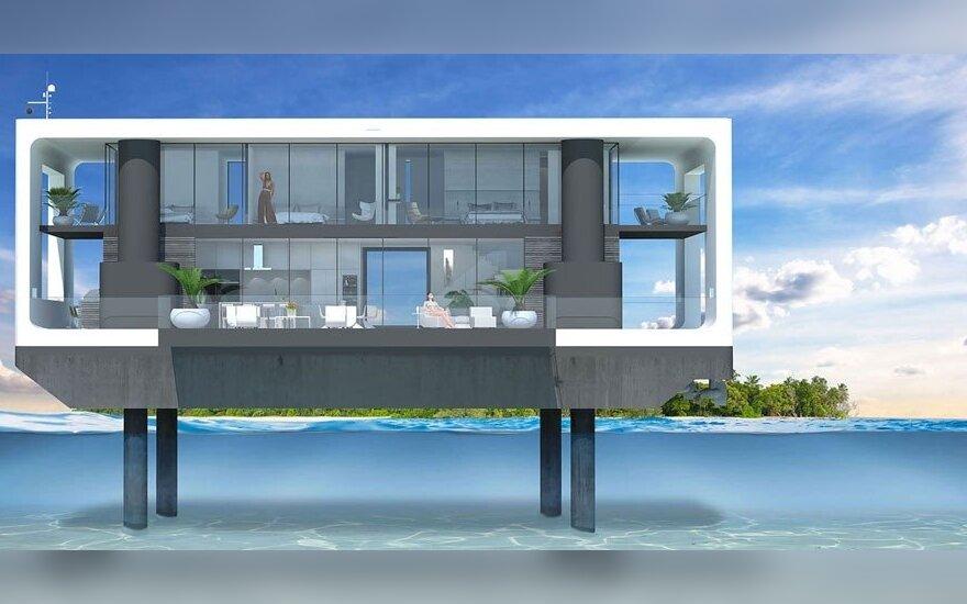 Namas ant vandens – prabangi užuovėja ištikus globalinei katastrofai