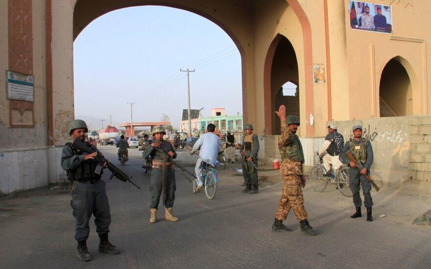 Afganų policija Gaznyje