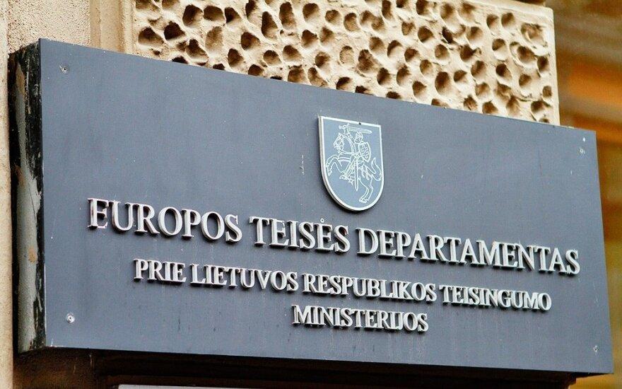 Europos teisės departamentą planuojama jungti prie Teisingumo ministerijos