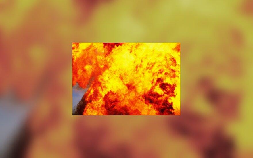 Sprogimas, ugnis