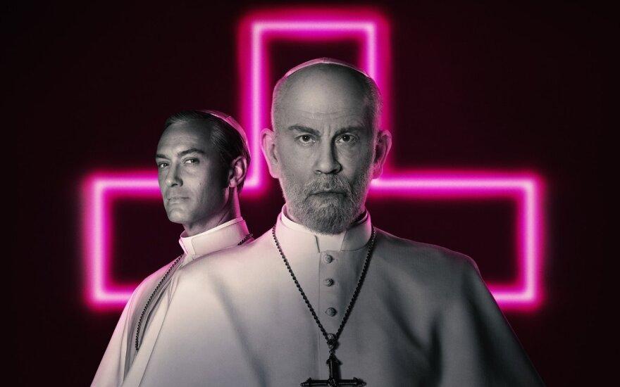 """Serialo """"Naujasis popiežius"""" plakatas"""