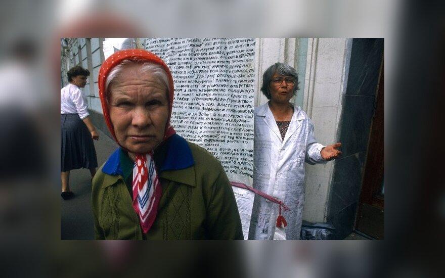 Ukraina pailgino moterų pensinį amžių iki 60 metų