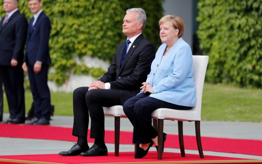 Nausėda iš Merkel išgirdo paramos žodžių: mes tikimės Vokietijos pagalbos gynybos srityje