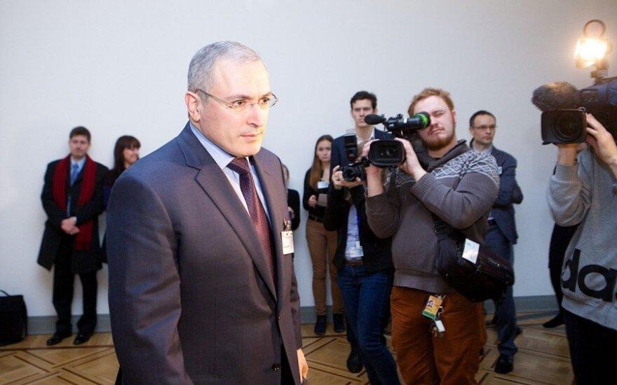 Sukritikavo M. Chodorkovskį: atvykęs į Vilnių, siunčia žinią Rusijai