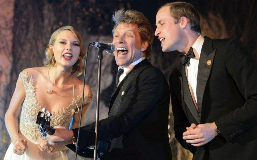 Princas Williamas, Jon Bon Jovi ir Taylor Swift
