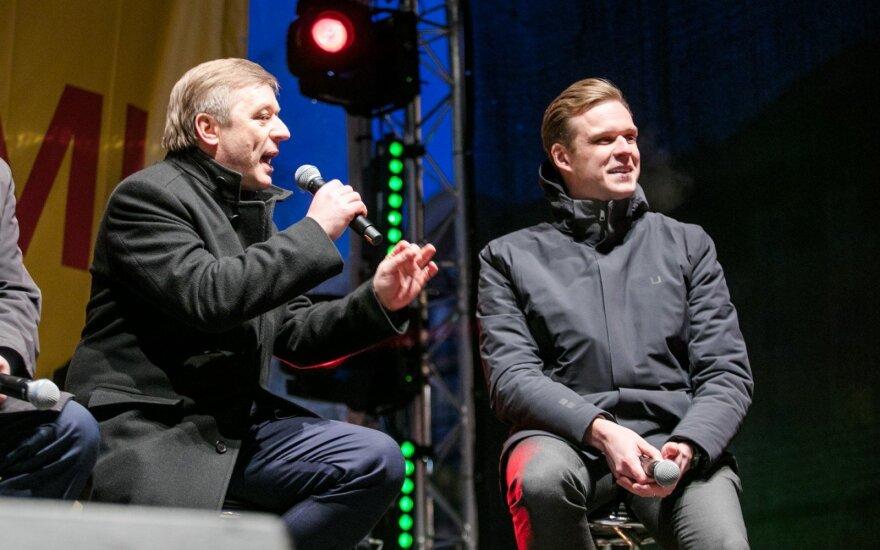 Ramūnas Karbauskis, Gabrielius Landsbergis
