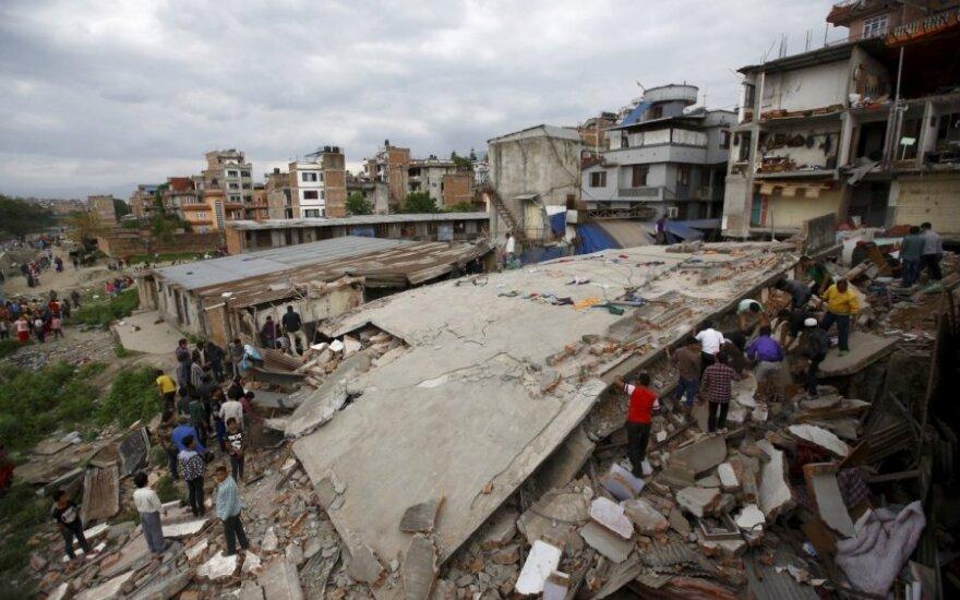 Lietuvos vadovai reiškia užuojautą dėl žemės drebėjimo Nepale