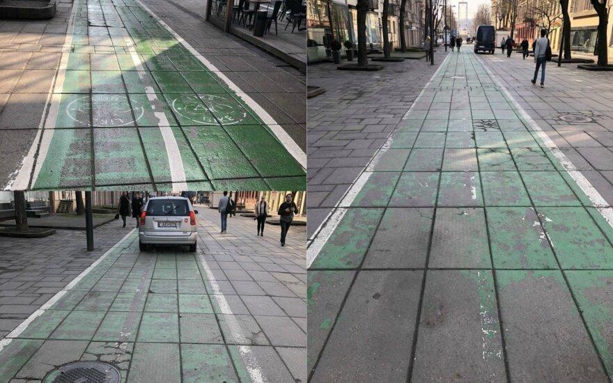"""Fiksuoja skaitytojas: kaip dabar atrodo """"žalieji"""" Kauno dviračių takai?"""