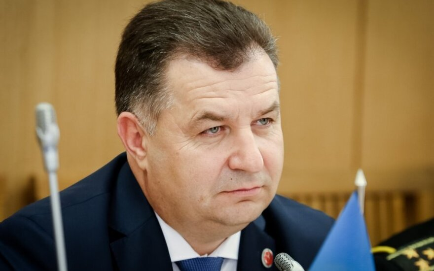 Ukraine's Defense Minister Stepan Poltorak