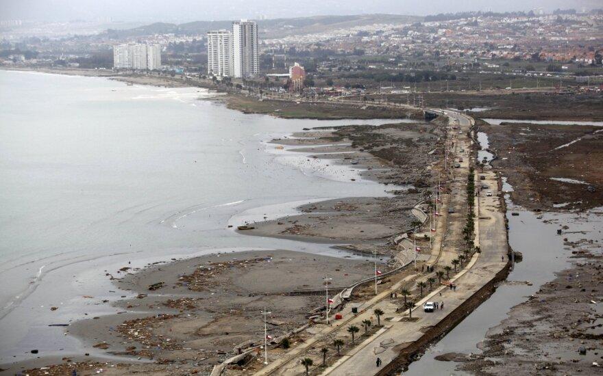 Čilę supurtė stiprus 6 balų žemės drebėjimas