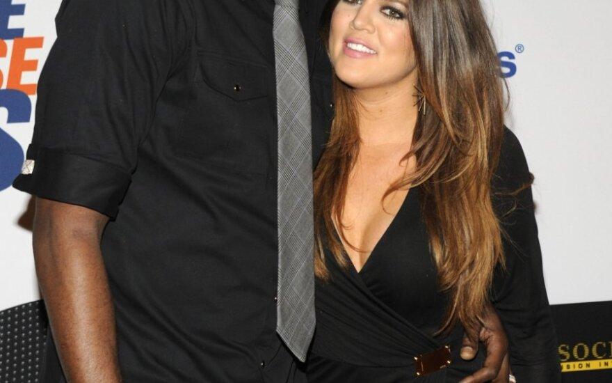 Lamaras Odomas su žmona Khloe Kardashian-Odom