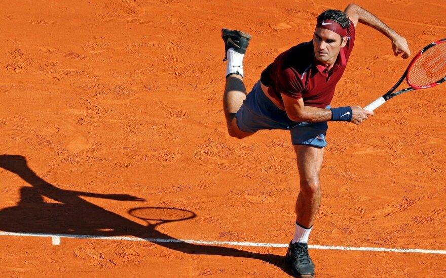 Monake – A. Murray ir R. Federerio pergalės