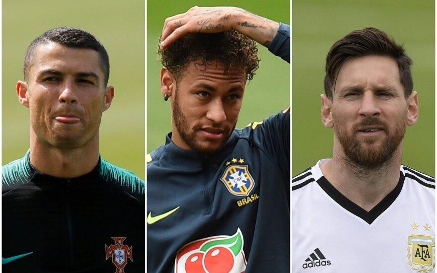 Cristiano Ronaldo, Neymaras, Lionelis Messi