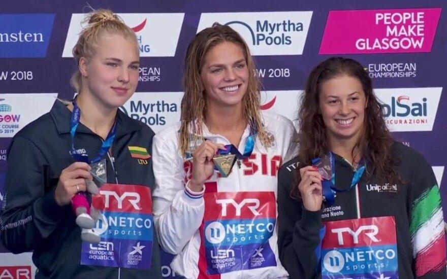 Sidabras: Meilutytė Europos čempionato finale nusileido tik Jefimovai