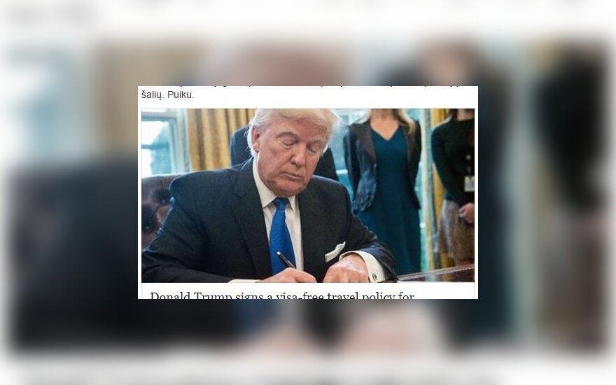 Melaginga naujiena apie D. Trumpą patikėjęs V. Ušackas: norėjau pasidalinti gera žinia, mums jų trūksta