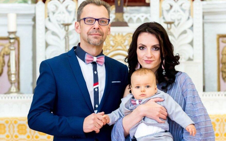 Aro Vėberio ir Martynos Kerbedytės sūnaus krikštynos