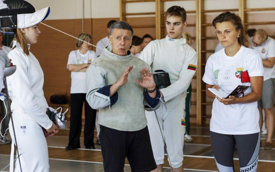 Huguesas Leseur su Lietuvos fechtuotojais