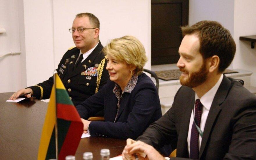 Juozas Olekas met with US Ambassador Deborah A. McCarthy