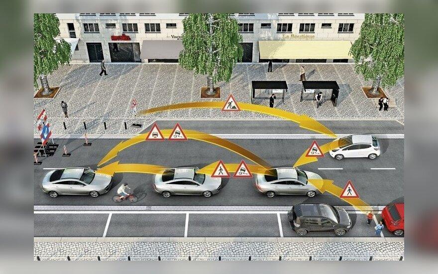 Eismo dalyvių keitimasis informacija užtikrins didesnį saugumą keliuose