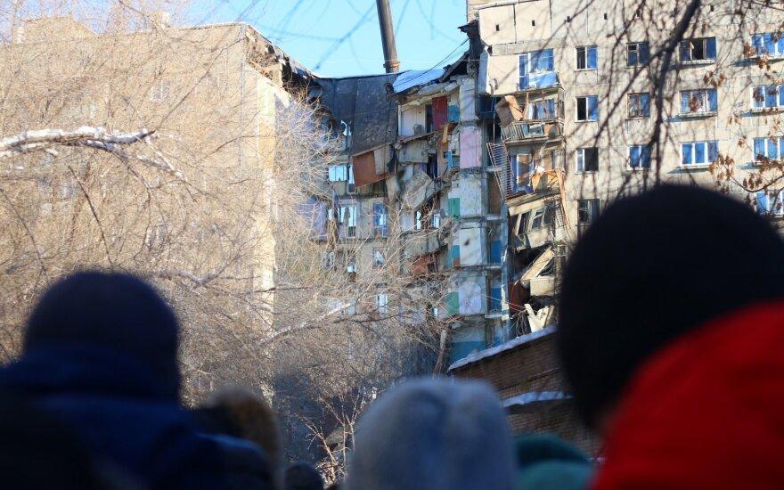 Aukų skaičius po sprogimo Magnitogorske toliau sparčiai auga: griuvėsiuose rasta 28 auka