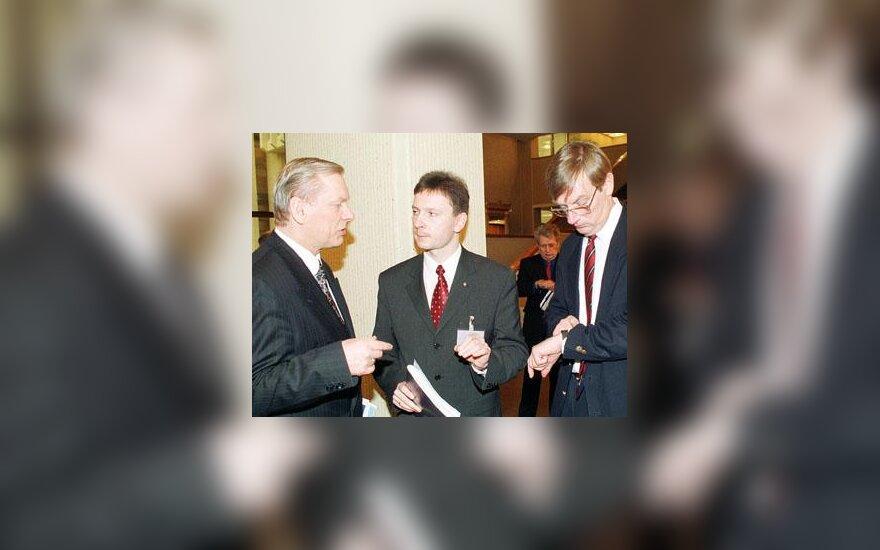 T.Vellistė, V.Klišonis ir R.Ražukas
