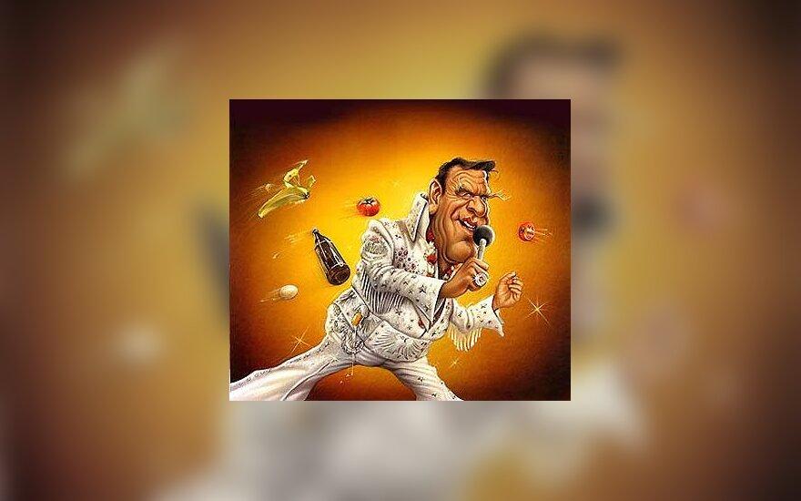 Gerhard Schroeder - karikatūra