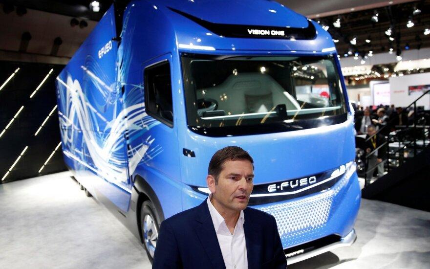 """""""E-FUSO Vision One"""" sunkvežimis debiutavo Tokijo parodoje"""