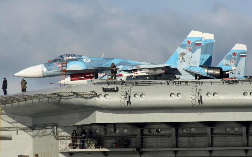 """Rusijos lėktuvnešis """"Admiral Kuznetsov"""""""