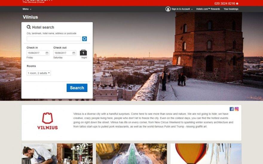 Vilniaus pristatymas Expedia