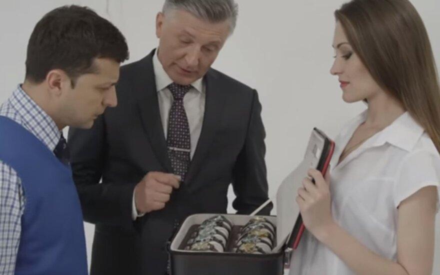 Volodymyras Zelenskis seriale Tautos tarnas
