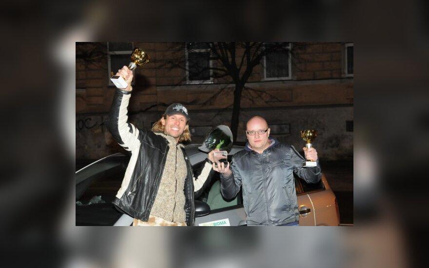 Žygio laimėtojai L.Karalius ir M.Senkus