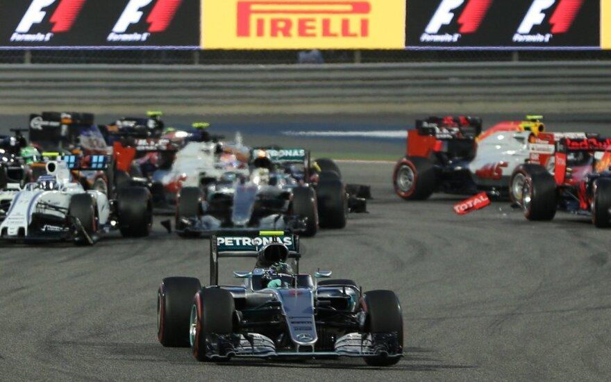 """Avarija """"Formulės-1"""" lenktynėse"""