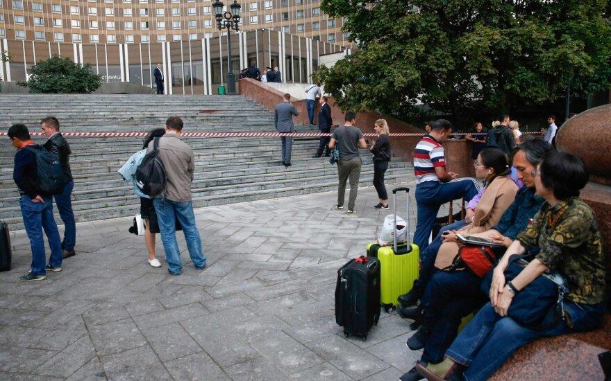 Maskvoje evakuota apie 9 tūkst. žmonių