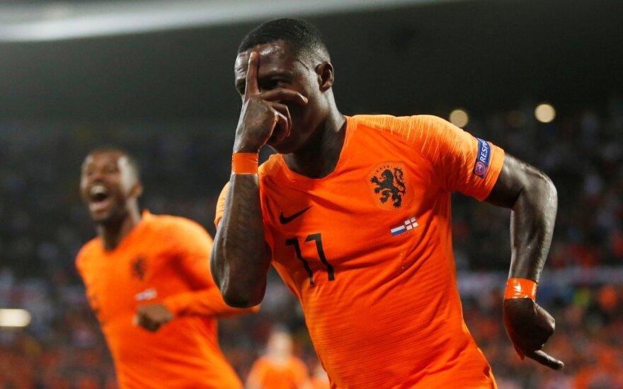 UEFA Tautų lygos pusfinalis: Nyderlandai – Anglija