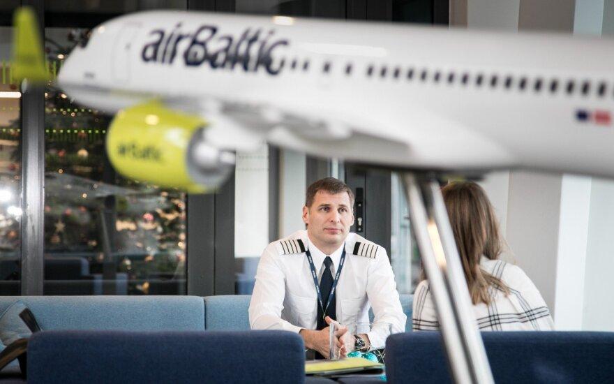 """""""airBaltic"""" Lietuvoje aptarnavo ketvirtadalį milijono keleivių"""
