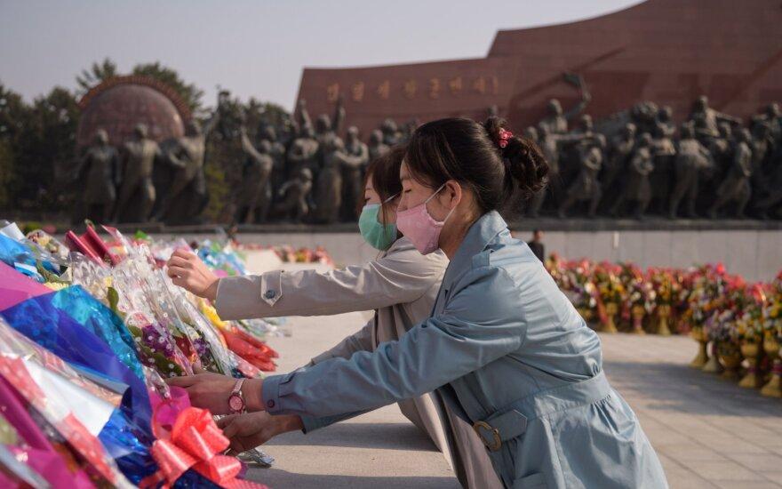 Šiaurės Korėja savo įkūrėjo gimimo metines paminėjo be masinių šventinių renginių