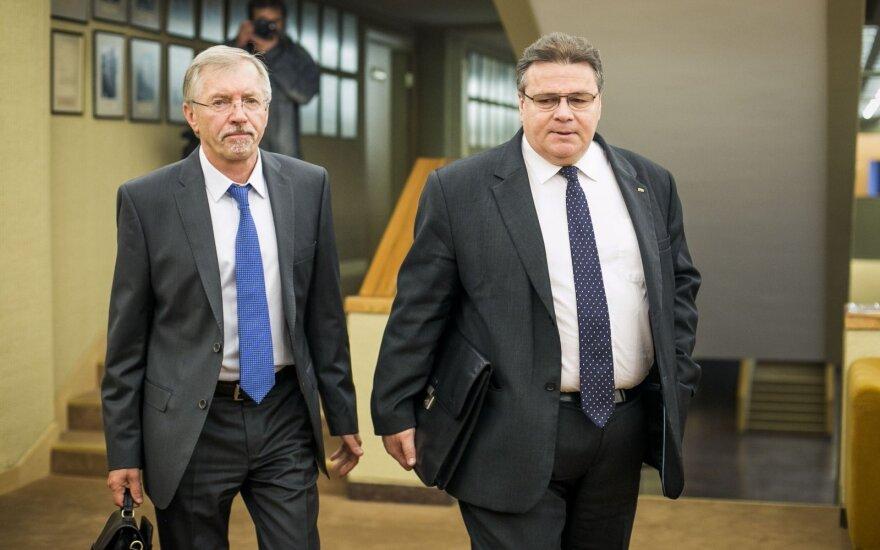 Gediminas Kirkilas and Linas Linkevičius