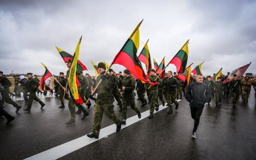 At the  Runway Run 2015 in Zuokniai airport (Šiauliai), marking the 11th anniversary of Lithuania's NATO accession