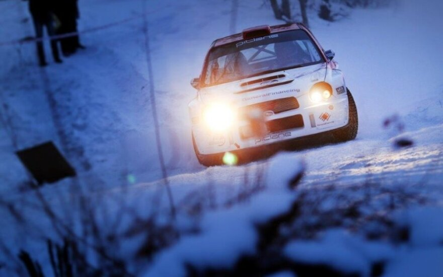"""Halls Winter Rally"" (G. Matulaičio nuotr.)"