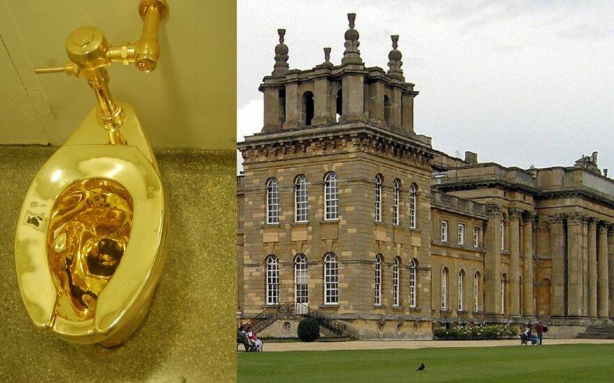 Kriminalas Churchillio rezidencijoje: pavogtas milijono vertės auksinis klozetas, užpiltos rūmų patalpos