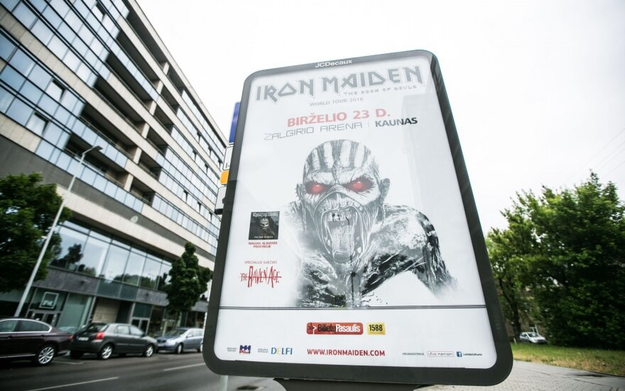 "Grupės ""Irom Maiden"" reklama"