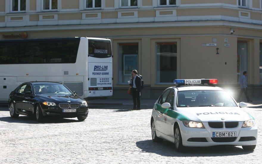 Presidential escort in Vilnius
