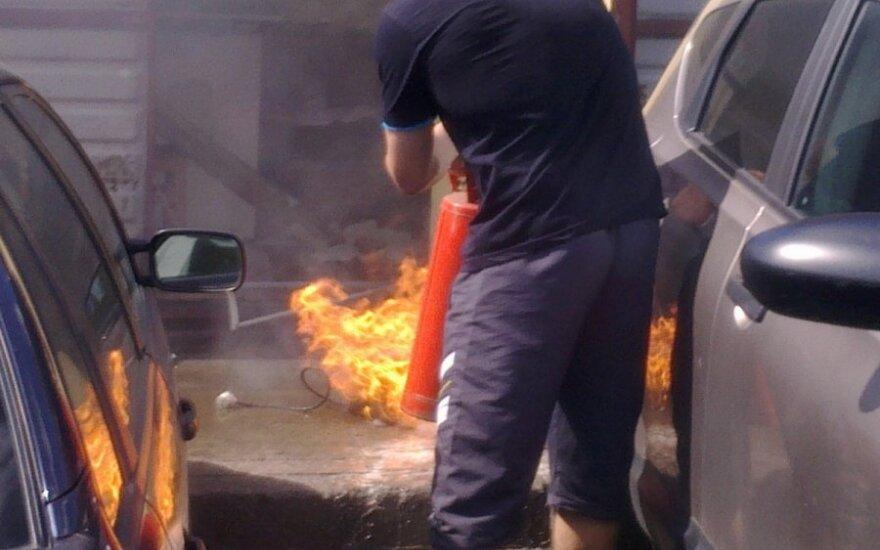 Kebabų kioskelyje Vilniuje kilo gaisras