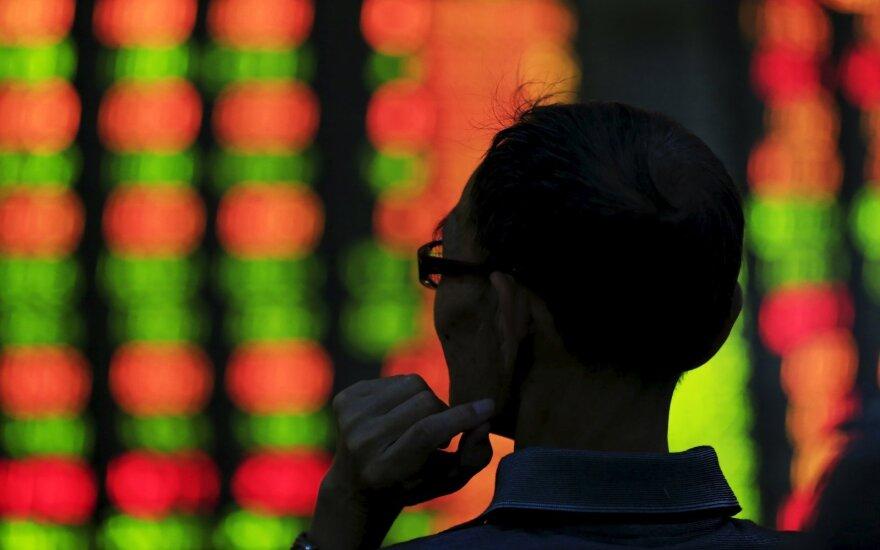 Po žinių apie Kinijos ekonomikos nuosmukį – reakcija akcijų rinkose